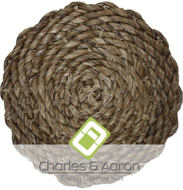 Round woven hand twisted abaca carpet